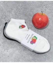 靴下 FRUIT OF THE LOOM フルーツオブザルーム フルーツ刺繍ロゴ 3Pソックス ZOZOTOWN PayPayモール店