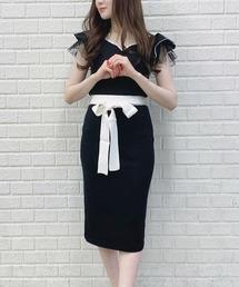 ワンピース 袖シアー配色ニットワンピース|ZOZOTOWN PayPayモール店