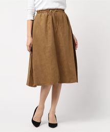 スカート La・comfy / ウエストドロスト無地フレアスカート|ZOZOTOWN PayPayモール店