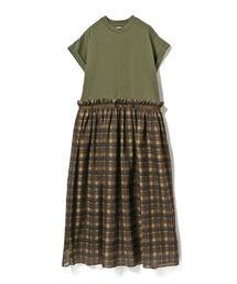 ワンピース CAROLINA GLASER / Tシャツ ドッキング ワンピース|ZOZOTOWN PayPayモール店