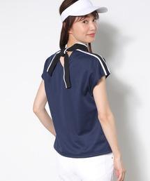 tシャツ Tシャツ 【UV】【吸水速乾】ロゴリボンモックフレンチ袖プルオーバー|ZOZOTOWN PayPayモール店