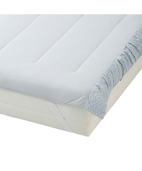 ベッド 寝具 2021年モデル オンラインショップ 一部店舗限定 ふわろ ベッドパッド 定番 ギャザー シングル 贈答 ブルー