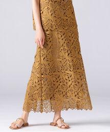 スカート ROOM NO.8 BLACK / リーフレース スカート|ZOZOTOWN PayPayモール店