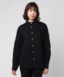 シャツ ブラウス 先染デニム バンドカラーシャツ ZOZOTOWN PayPayモール店