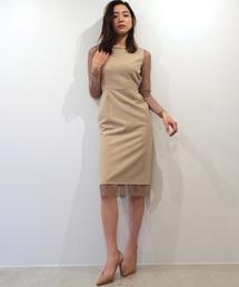 ドレス オープンバックアイラッシュレースタイトドレス ZOZOTOWN PayPayモール店