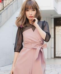 平子理沙プロデュース『RIRIBAE/リリベ』コルセット風デザインのパンツドレス|ZOZOTOWN PayPayモール店