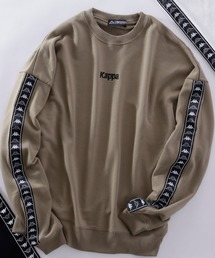 スウェット Kappa/カッパ 別注 袖テープ/刺繍ロゴ オーバーサイズ クルーネックスウェット|ZOZOTOWN PayPayモール店