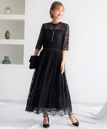 ドレス ヴィンテージ風幾何学模様レースワンピースドレス|ZOZOTOWN PayPayモール店