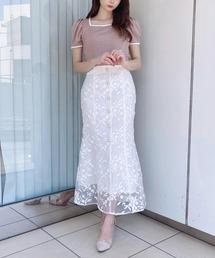 スカート レース刺繍マーメイドスカート|ZOZOTOWN PayPayモール店