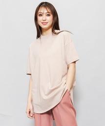 tシャツ Tシャツ プチハイネックオーガニック綿半袖裾ラウンドTシャツ|ZOZOTOWN PayPayモール店
