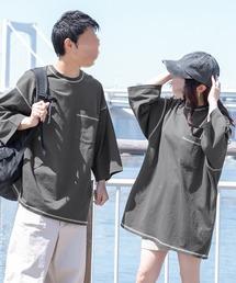 tシャツ Tシャツ 配色ステッチデカポケT(ユニセックス)|ZOZOTOWN PayPayモール店