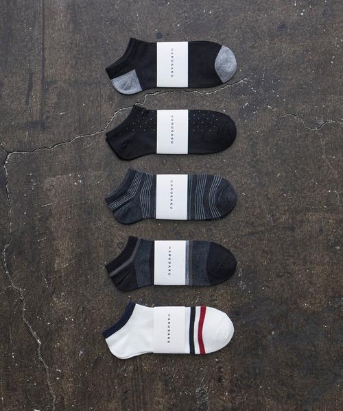 人気ブレゼント 送料0円 靴下 HARUSAKU CC Men#039;s Sneaker A 5P set :メンズスニーカーソックス5Pセット socks