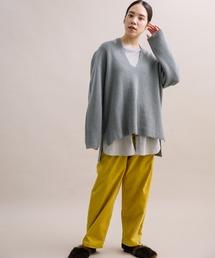 パンツ 【Liyoca】シャンブレーコール イージーパンツ|ZOZOTOWN PayPayモール店