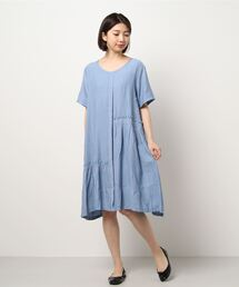 tシャツ Tシャツ La・comfy/ワッシャー梨地ジョーゼットフリルOP|ZOZOTOWN PayPayモール店