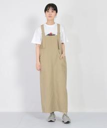サロペット オーバーオール [D.M.G / ディーエムジー] 綿麻サージ オーバースカート ZOZOTOWN PayPayモール店