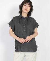 シャツ ブラウス [D.M.G / ディーエムジー] フレンチリネンキャンバス S/Sレギュラーカラーシャツ|ZOZOTOWN PayPayモール店