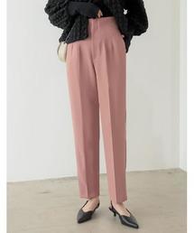 パンツ [低身長/高身長サイズ有]ツイルハイウエストダーツテーパードパンツ|ZOZOTOWN PayPayモール店