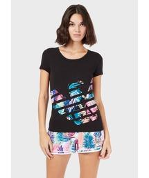 tシャツ Tシャツ 【エンポリオ アルマーニ EA7】トロピカルイーグルロゴTシャツ|ZOZOTOWN PayPayモール店