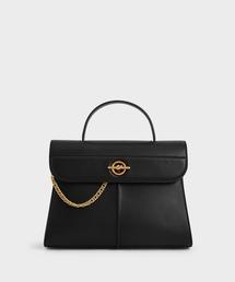 バッグ ハンドバッグ チェーンディティール ジオメトリックバッグ / Chain Detail Geometric Bag|ZOZOTOWN PayPayモール店