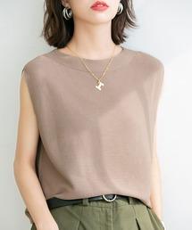 tシャツ Tシャツ ベーシックノースリーブサマーニット|ZOZOTOWN PayPayモール店