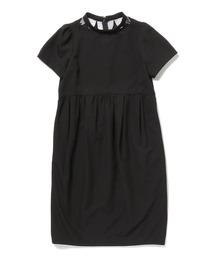 ワンピース CAROLINA GLASER BLACK / 花びら風ネック コクーンワンピース|ZOZOTOWN PayPayモール店