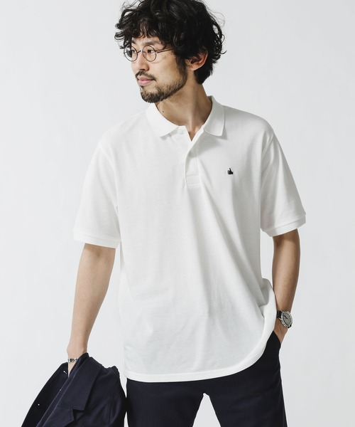 ポロシャツ 永遠の定番モデル 割引 《WEB限定》ワンポイント刺繍ポロシャツ