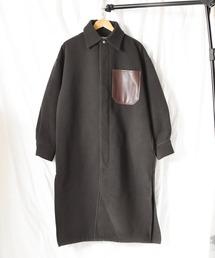 ステンカラーコート 《SUPERTHANKS》LONG SHIRT COAT|ZOZOTOWN PayPayモール店