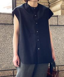 シャツ ブラウス ◇【Scye】ギザコットンポプリン スリーブレスシャツ WOMEN|ZOZOTOWN PayPayモール店