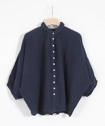 シャツ ブラウス [Brocante / ブロカント] リネンキャンバスグランシャツ|ZOZOTOWN PayPayモール店