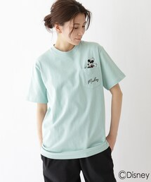 tシャツ Tシャツ DISNEY ディズニー/ポケット刺繍 ミッキーマウス コットン半袖Tシャツ|ZOZOTOWN PayPayモール店