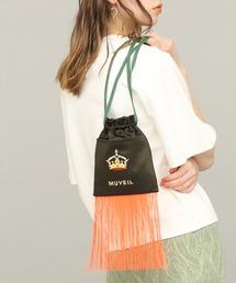 ショルダーバッグ バッグ 【MUVEIL(ミュベール)】刺繍フリンジ巾着バッグ|ZOZOTOWN PayPayモール店