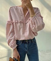 シャツ ブラウス 胸元フリルバルーン袖ブラウス|ZOZOTOWN PayPayモール店