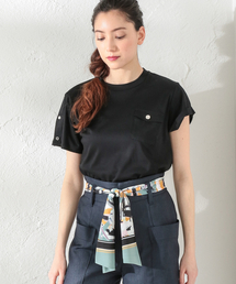 tシャツ Tシャツ 【LOVELESS】WOMEN アシメスリーブポケットTシャツ ZOZOTOWN PayPayモール店