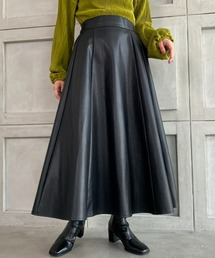 スカート エコレザーロングフレアスカート|ZOZOTOWN PayPayモール店