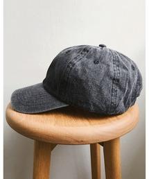 帽子 キャップ newhattan(ニューハッタン) / STONE WASHED DENIM CAP ウォッシュドデニムローキャップ/無地/ワンポイ|ZOZOTOWN PayPayモール店