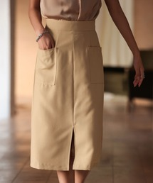 スカート センタースリット入りセミタイトスカート|ZOZOTOWN PayPayモール店
