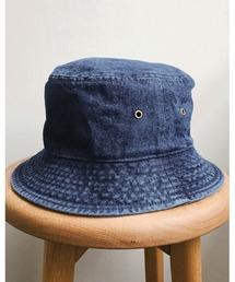 帽子 ハット newhattan(ニューハッタン) / ウォッシュド デニム バケットハット|ZOZOTOWN PayPayモール店