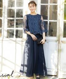 ドレス シャンデリアレースアンクル丈セットアップアンクル丈のセットアップドレス|ZOZOTOWN PayPayモール店