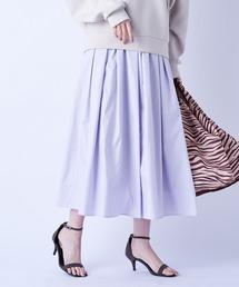 スカート ほどよい丈感が上品な印象を与える タフタギャザースカート|ZOZOTOWN PayPayモール店