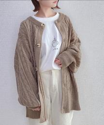 カーディガン ファッションインフルエンサー aoi* - 2WAYニットカーディガン made in INTER FACTORY ZOZOTOWN PayPayモール店