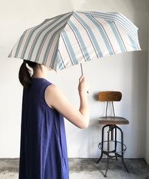 折りたたみ傘 NT:ペールストライプ折りたたみ傘 雨晴兼用 UVカット|ZOZOTOWN PayPayモール店