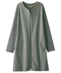 ジャケット ノーカラージャケット ジッパー使いリップルボーダージャケット|ZOZOTOWN PayPayモール店