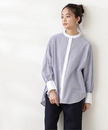 シャツ ブラウス 【追加生産】◆バックペプラムバンドカラーシャツ|ZOZOTOWN PayPayモール店