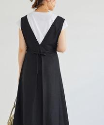 ワンピース ジャンパースカート 麻タックジャンパースカート|ZOZOTOWN PayPayモール店