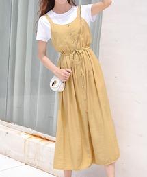 ワンピース ジャンパースカート フロントボタン フレア サロペットスカート|ZOZOTOWN PayPayモール店