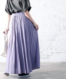 スカート 綿100% 風まとう、たっぷりフレアマキシスカート ZOZOTOWN PayPayモール店