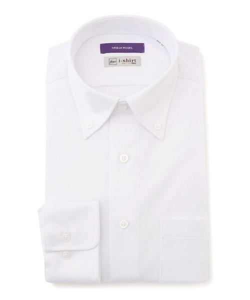 時間指定不可 完全ノーアイロン 長袖アイシャツ サックス ホワイト 超人気