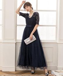 ドレス 総レース5分袖ワンピースドレス|ZOZOTOWN PayPayモール店