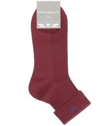 靴下 EMPORIO ARMANI レディース シルク混 ワンポイント 折り返し ショートソックス 03450101|ZOZOTOWN PayPayモール店