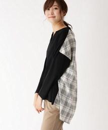 tシャツ Tシャツ 【手洗い可】チェックバックシャンスムースプルオーバー ZOZOTOWN PayPayモール店
